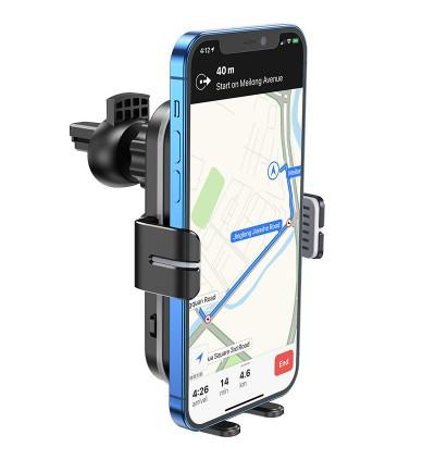[Ready Stock] Hoco CA80 Buddy Smart Air Vent Wireless Charging Car Mount Phone Holder for Samsung / Huawei / Xiaomi / Oppo / Vivo / Toyota / Honda / Mazda / Proton / Perodua, BMW / Benz Mercedes