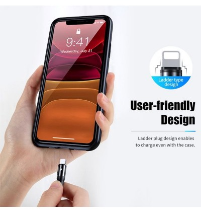 Original Rock G18 Flash Charge 3in1 66W 120cm USB TYPE-C + 8 PIN + Micro USB Sync & Charge Cable compatible with Apple iPhone, iPad, Samsung Galaxy Note, Galaxy Tab, Huawei Mate, OPPO Find, OPPO RENO, XIAOMI Black Shark, VIVO, REALME, ONEPLUS