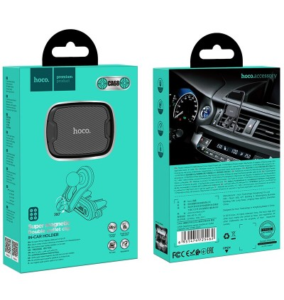 [Ready Stock] Hoco CA68 Sagittarius Series Double Air Vent Magnetic Car Mount Phone Holder for Samsung / Huawei / Xiaomi / Oppo / Vivo / Toyota / Honda / Mazda / Proton / Perodua, BMW / Benz Mercedes