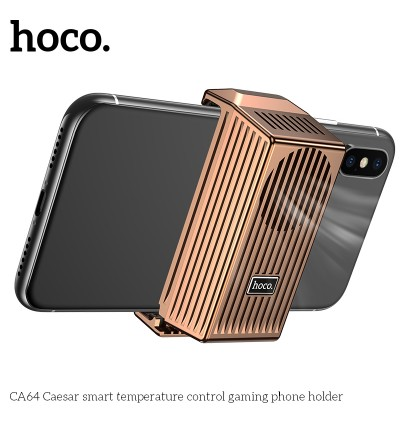 [Ready Stock] Hoco CA64 Caesar Smart Temperature Control Cooling Gaming Phone Holder for Samsung / Xiaomi / Huawei / Oppo / Vivo / Realme / OnePlus