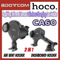 [Ready Stock] Hoco CA60 Aspiring Infrared Sensor Wireless Charging Dashboard Air vent Car Mount Phone Holder for Samsung / Huawei / Xiaomi / Oppo / Vivo / Toyota / Honda / Mazda / Proton / Perodua, BMW / Benz Mercedes