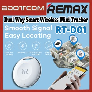[Ready Stock] Remax RT-D01 Dual Way Smart Wireless Mini Tracker for Real Time Tracking / Location Record / Location Tracking/ Voice Record / Samsung / Xiaomi / Huawei / Oppo / Vivo / Realme / OnePlus