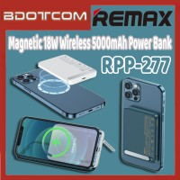 [Ready Stock] Remax RPP-277 Mini Magnetic 18W Wireless 5000mAh Fast Charge Power Bank with Holder for Samsung / Xiaomi / Huawei / Oppo / Vivo / Realme / OnePlus
