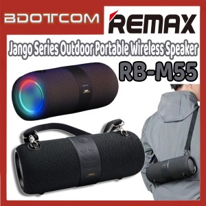 [Ready Stock] Remax RB-M55 Jango Series Outdoor Portable Wireless Speaker for Outdoor / Indoor / House Party / Samsung / Huawei / Xiaomi / Oppo / Vivo / Realme / OnePlus