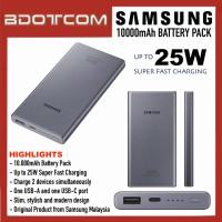 Original Samsung 10000mAh Battery Pack 25W Super Fast Charging Power Bank compatible with Samsung Galaxy Tab S7+, Tab S6 Lite, Tab S5e, Samsung Galaxy Note20 Ultra 5G, Note10, S21, S20, Galaxy Z Fold3, Galaxy Z Flip3, Galaxy Buds, Galaxy Watch