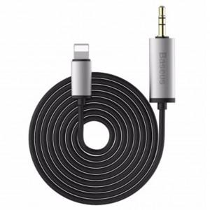 Original Baseus B37 8 Pin to 3.5mm Male 2m Audio Cable (Black)