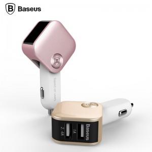 Baseus 3.4A Sadis series Dual USB Port Smart Car Charger with LED Indicator