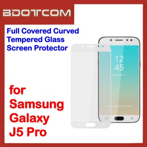 Full Covered Tempered Glass Screen Protector for Samsung Galaxy J5 Pro (White)