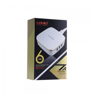 LDNIO 6 Ports 7A USB Auto ID Qualcomm 2.0 Desktop Charger (White)