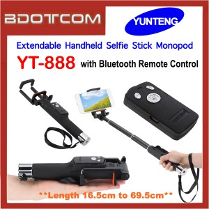 Yunteng YT-888 Extendable Handheld Selfie Stick Monopod with Bluetooth Remote Control