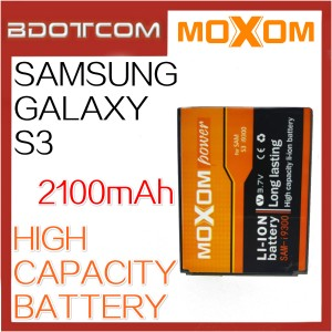 Moxom Replacement Battery for Samsung Galaxy S3 i9300 Battery