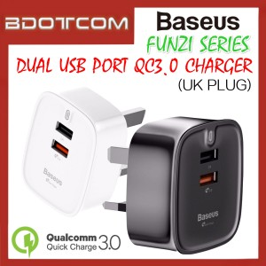 Baseus Funzi series QC3.0 Dual USB Smart Quick Charger