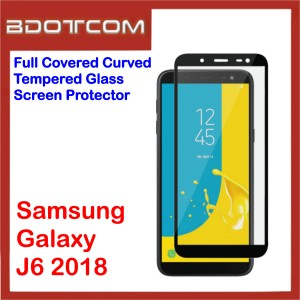Full Covered Curved Tempered Glass Screen Protector for Samsung Galaxy J6 2018 (Black)