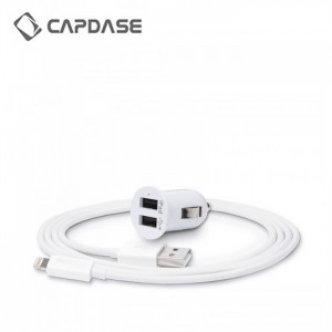 Capdase Pico K2 2.4A Dual USB Car Charger With Lightning Cable