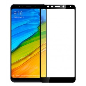Full Covered Tempered Glass Screen Protector for Xiaomi Redmi 6 Pro (Black)