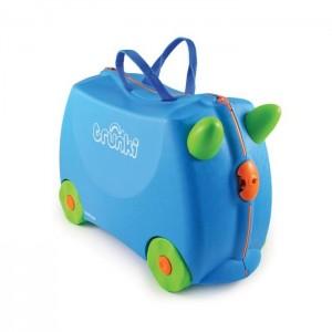 Trunki TR0054-GB01 Kids Ride-On Luggage Suitcase (Terrance Blue)