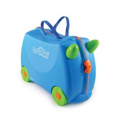 Trunki TR0054-GB01 Kids Ride-On Luggage Suitcase (Terrance Blue)