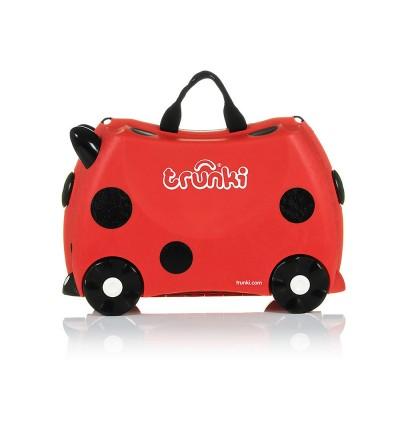 Trunki TR0092-GB01 Kids Ride-On Luggage Suitcase (Harley Ladybug)