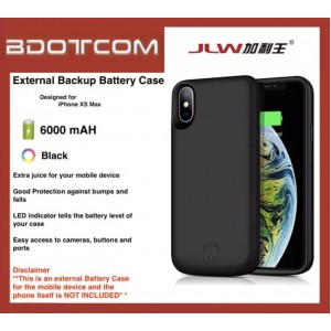 External Battery Case 6000 mAh Power Bank compatible with Apple iPhone XS Max