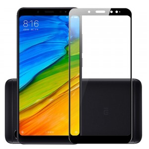 Full Covered Tempered Glass Screen Protector for Xiaomi Redmi Note 6 Pro (Black)