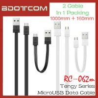 Original Remax RC-062m Tengy Series 160mm +1000mm MicroUSB Data Cable (Black)