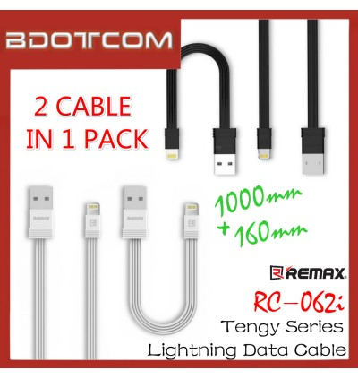 Original Remax RC-062i Tengy Series 160mm +1000mm Lightning Data Cable