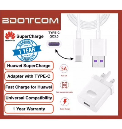 Huawei Super Charge SuperCharge Power Adapter Charger with USB TYPE-C Cable for Huawei P20 P20 Pro Mate 10 Mate 10 Pro Mate 20 Mate 20X Mate 20 Pro P30 P30 Pro