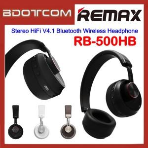 Original Remax RB-500HB Stereo HiFi V4.1 Bluetooth Wireless Headphone for Samsung / Apple / Huawei / Xiaomi / Oppo / Vivo